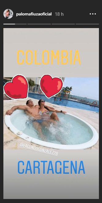 Paloma Fiuza y Fancundo González disfrutaron un adelanto de su'luna de miel' en Colombia. (@palomafiuzaoficial)