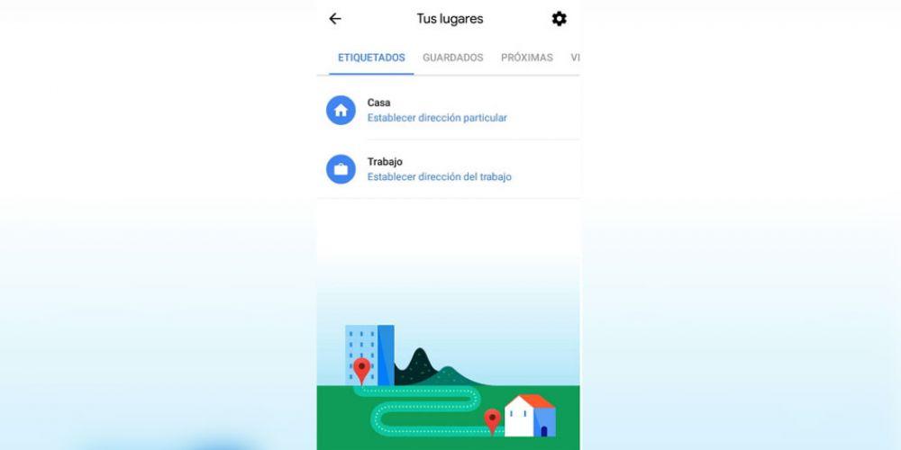 Ahorra tiempo configurando tu lugar de trabajo y casa en Google Maps.