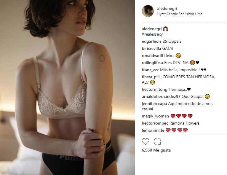 Alessandra Denegri en Instagram.