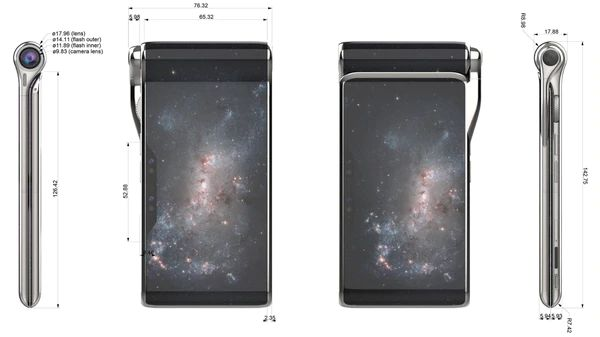 Diseño del Hubble Phone. (Foto: Turing Space Industries)