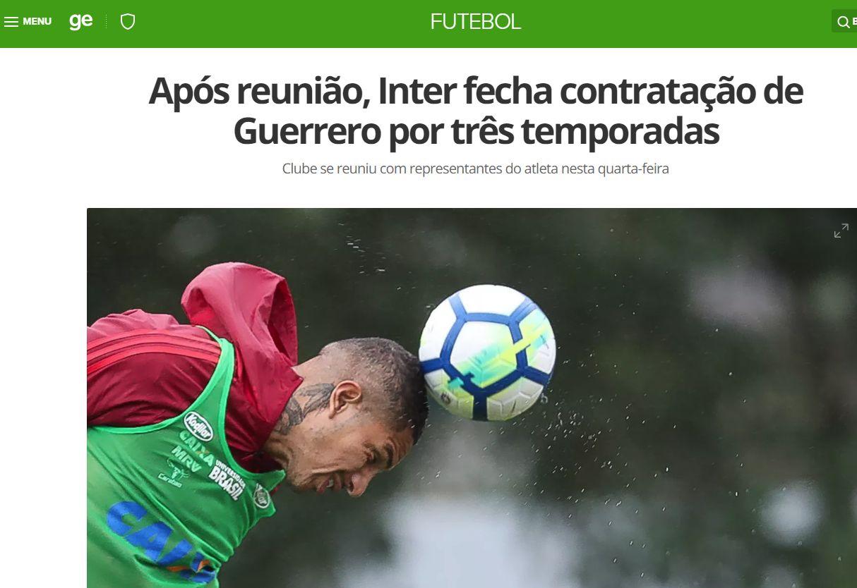 Paolo Guerrero llegó a Flamengo en 2015 procedente de Corinthians. (Captura: Globo Esporte)