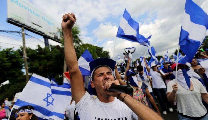 Miles de nicaragüenses participaron en marchas en contra del gobierno. | Foto: AFP