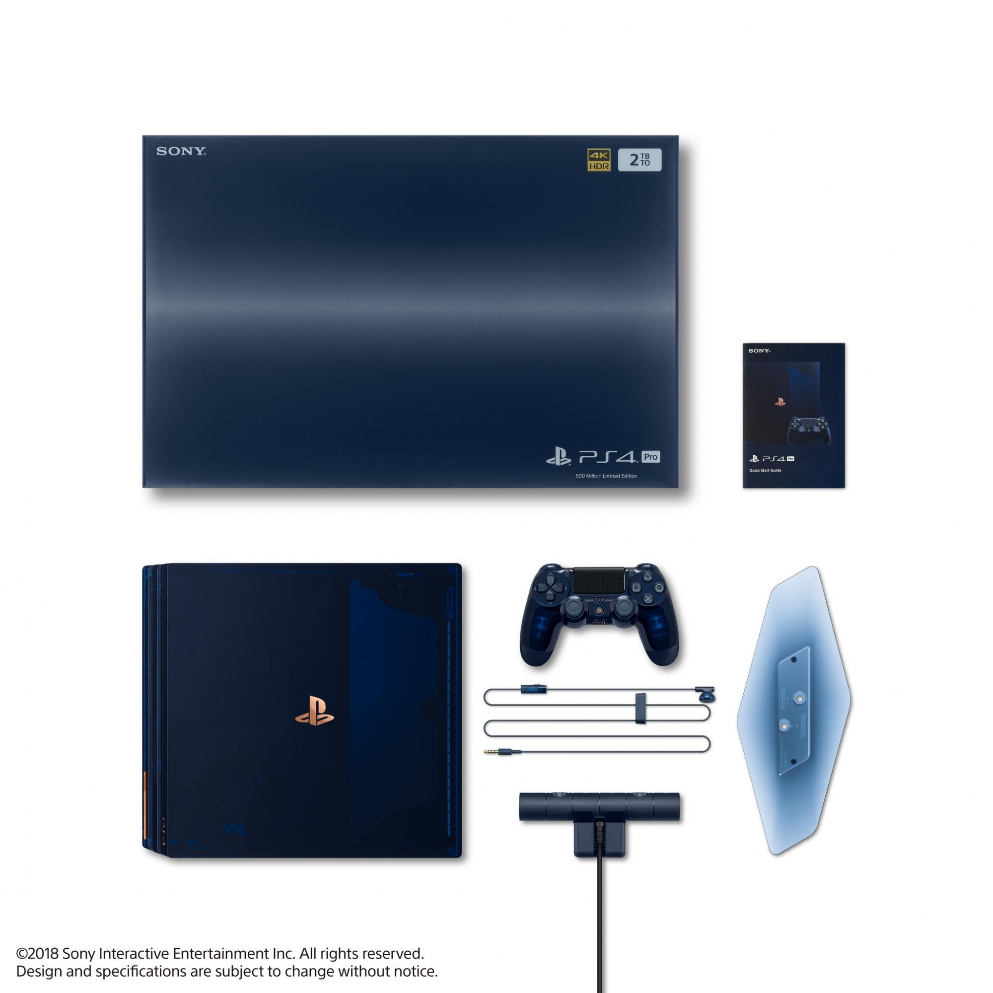 PS4 Pro Edición Limitada 500 millones. (Foto: Sony)
