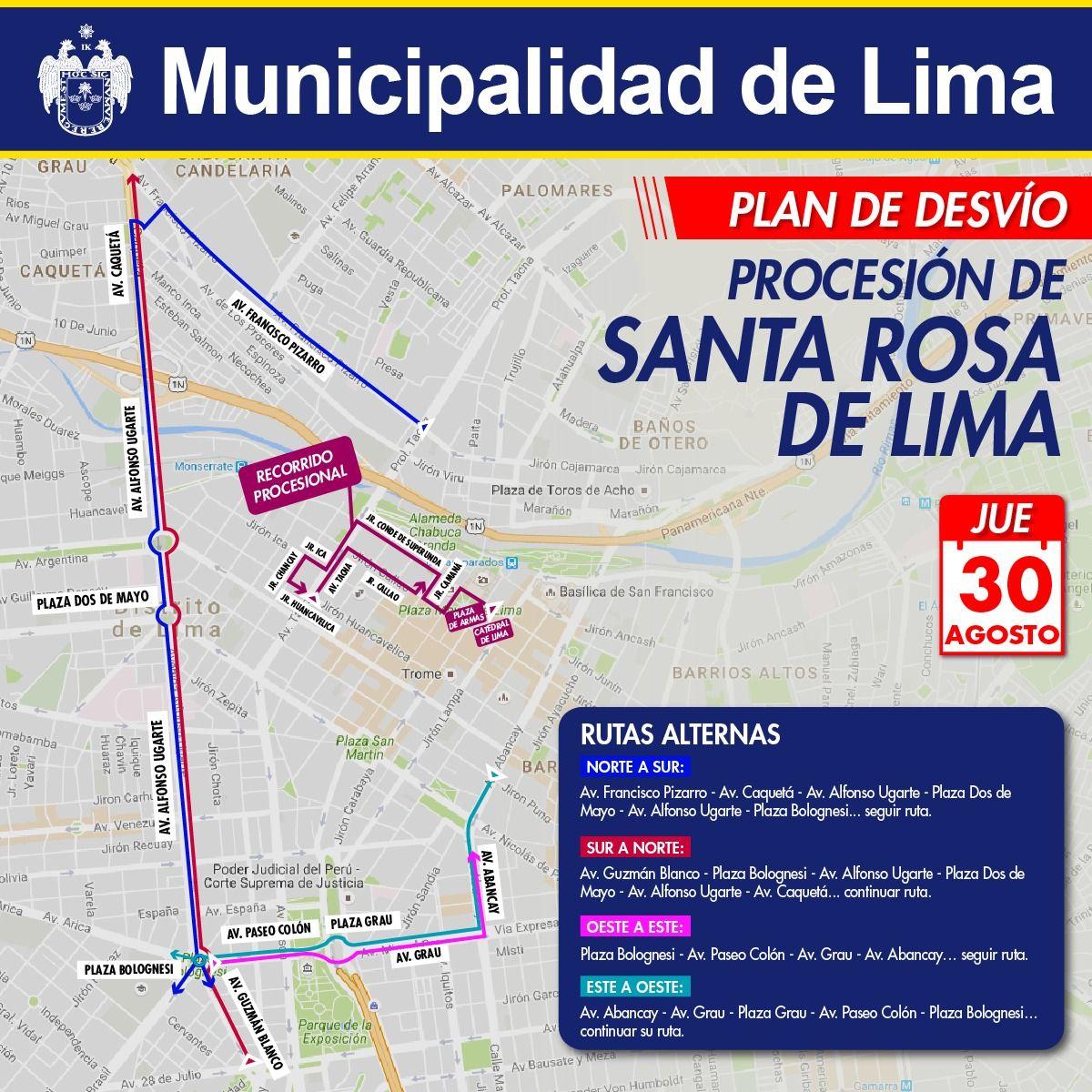 La procesión de Santa Rosa será este jueves 30 de agosto. (El Comercio)