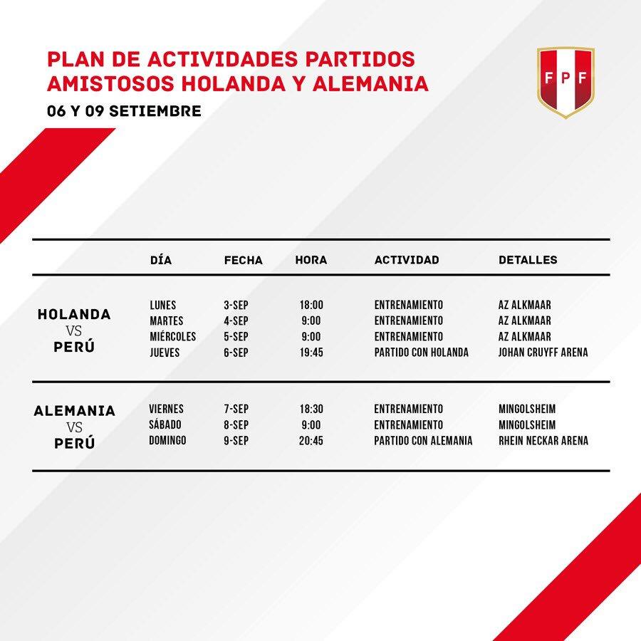 Ambos partidos están programados para la 1:45 p.m. (hora peruana). (Foto: FPF)