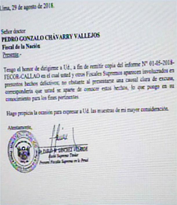 La carta de Pablo Sánchez a Pedro Chávarry fue enviada el mismo día que se presentó una nueva denuncia constitucional contra César Hinostroza. (Foto: Canal N)