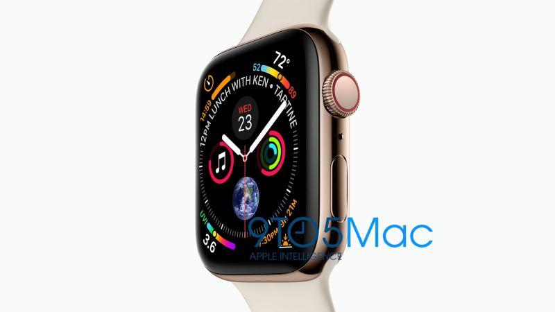 Imagen filtrada del nuevo Apple Watch Serie 4. (Foto: 9to5Mac)