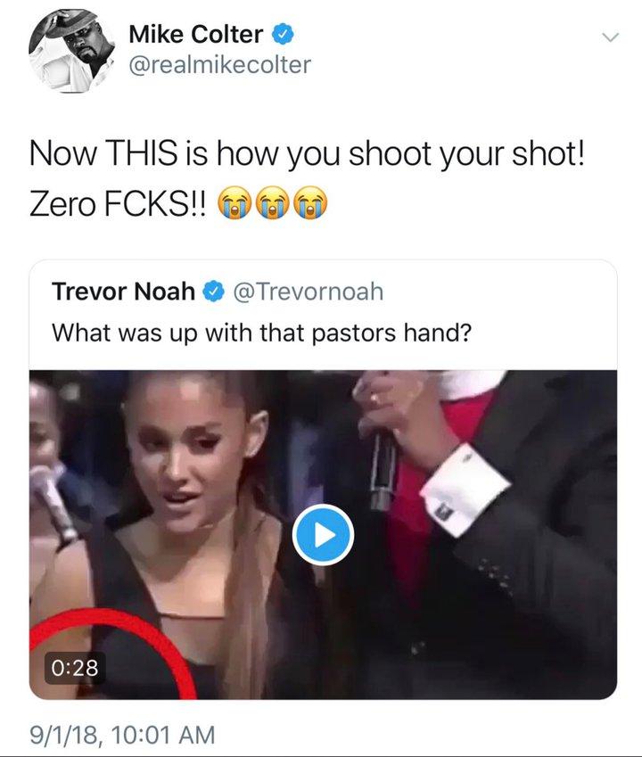 Mike Colter bromeó sobre situación que vivió Ariana Grande. (Foto: Twitter)