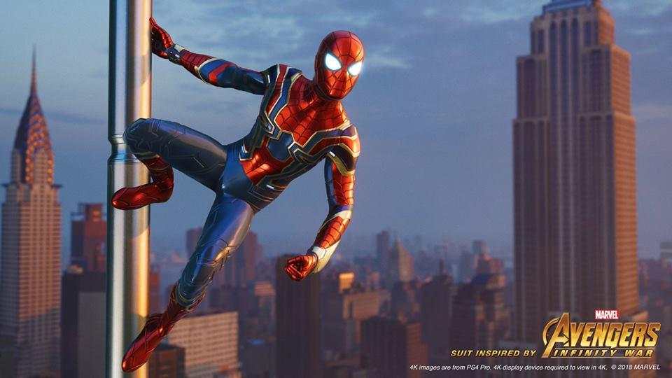 El Iron Spider que vimos en Avengers Infinity War será uno de los trajes desbloqueables en el juego. (Foto: Insomniac)