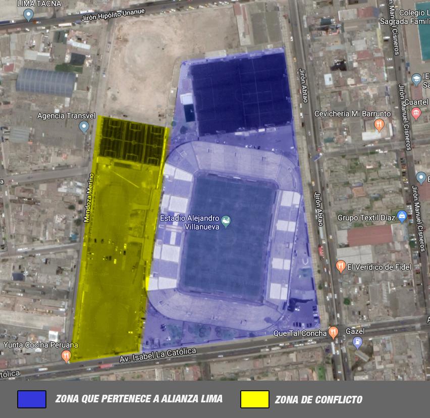 Esta es la zona en conflicto. (Google Maps)