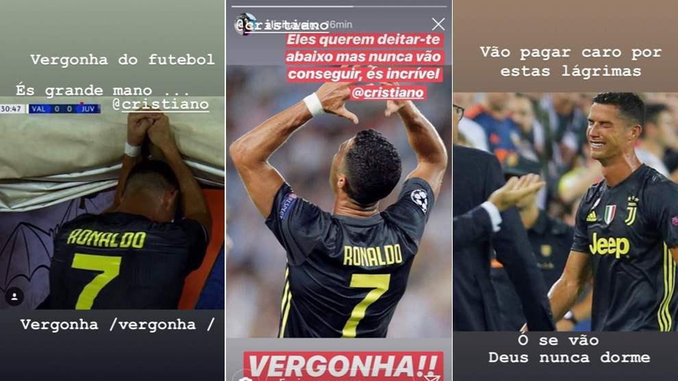 La reacción de la hermana de Cristiano Ronaldo (Captura: Instagram de Katia Aveiro).