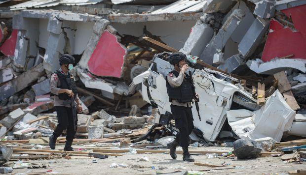 Se teme que cientos de personas hayan quedado enterradas entre los escombros en una zona residencial en el barrio de Balaroa, en Palu. (Foto: AFP)
