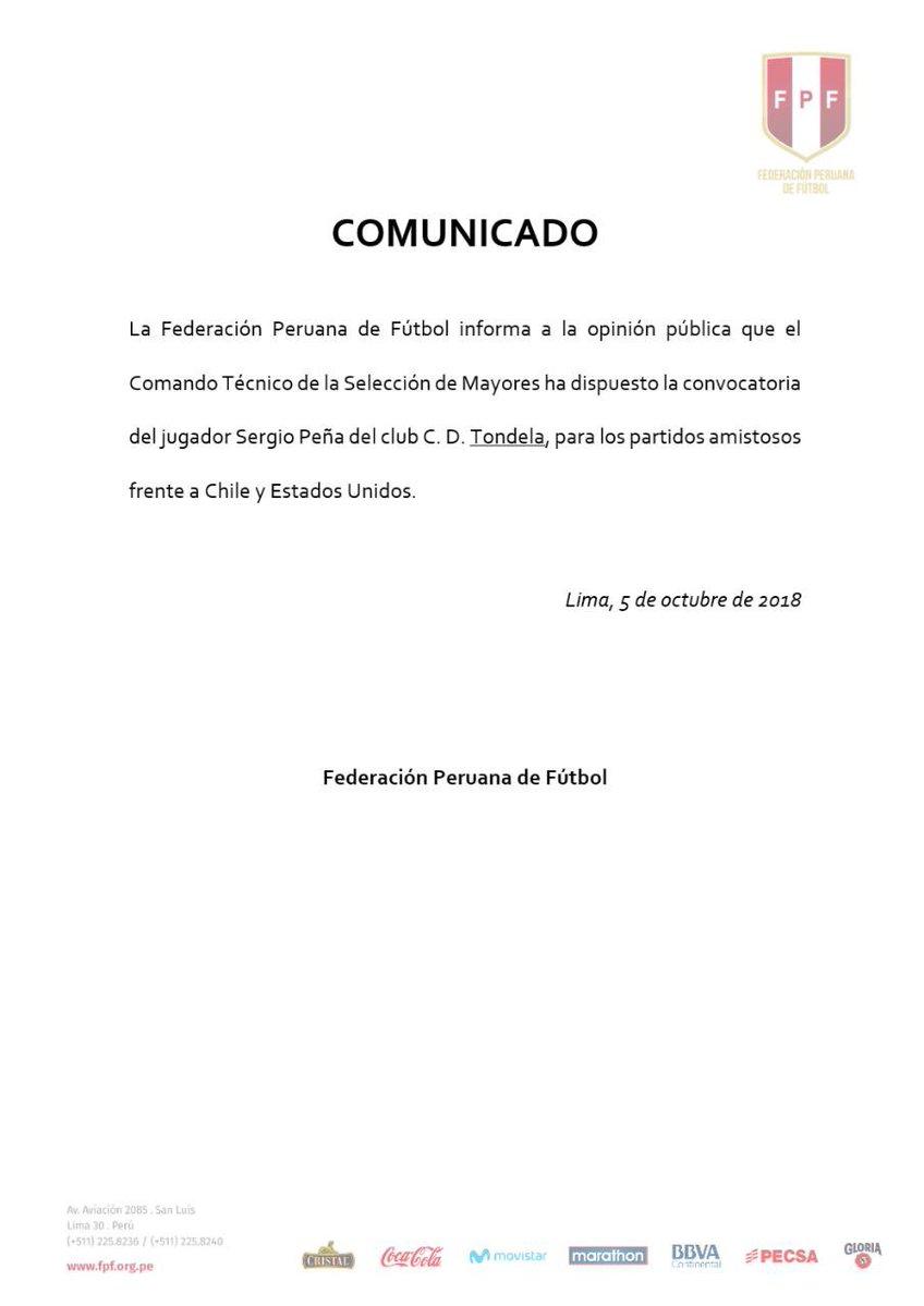 Sergio Peña fue convocado para amistosos ante Chile y Estados Unidos. (Foto: FPF)