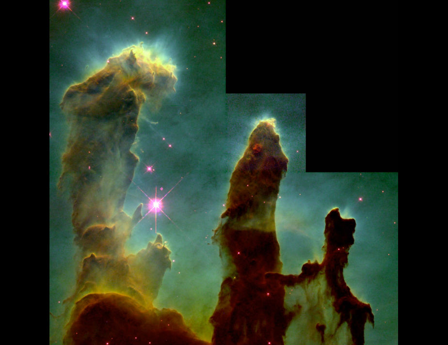 Los Pilares de la Creación, una de las imágenes más icónicas, conseguidas por el Hubble. (Foto: NASA/ ESA)