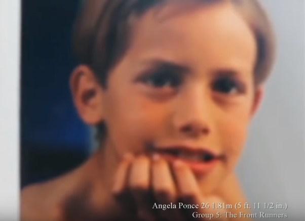 Ángel Mario Ponce, ahora conocida mundialmente como Angela Ponce en sus primeros años de vida (Foto: ElComercio)
