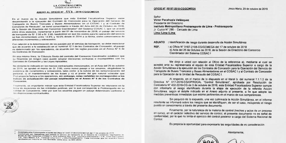 Documentos de la Contraloría. (Foto: Difusión)