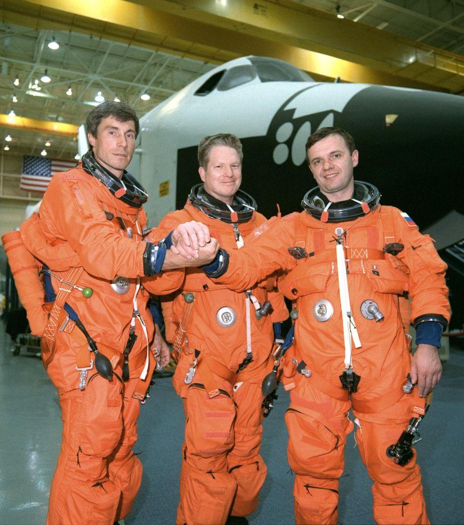 La tripulación de la Expedition 1 llegó a la Estación Espacial Internacional el 2 de noviembre de 2000, después de 33 órbitas alrededor de la Tierra. (Foto: NASA)