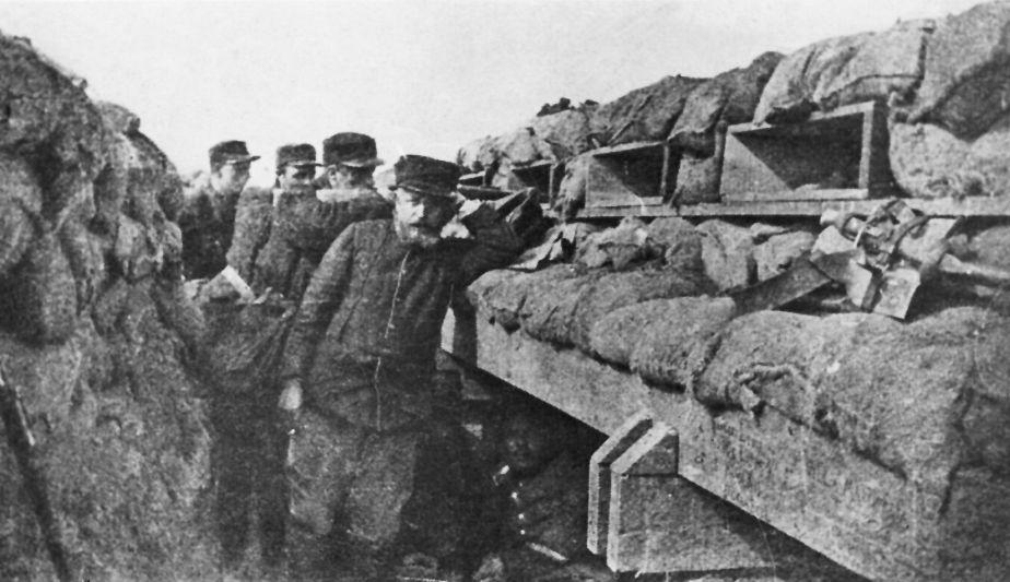 Sistema de trincheras francesas durante la Primera Guerra Mundial, cuando la guerra era de posiciones. (Foto: EFE)