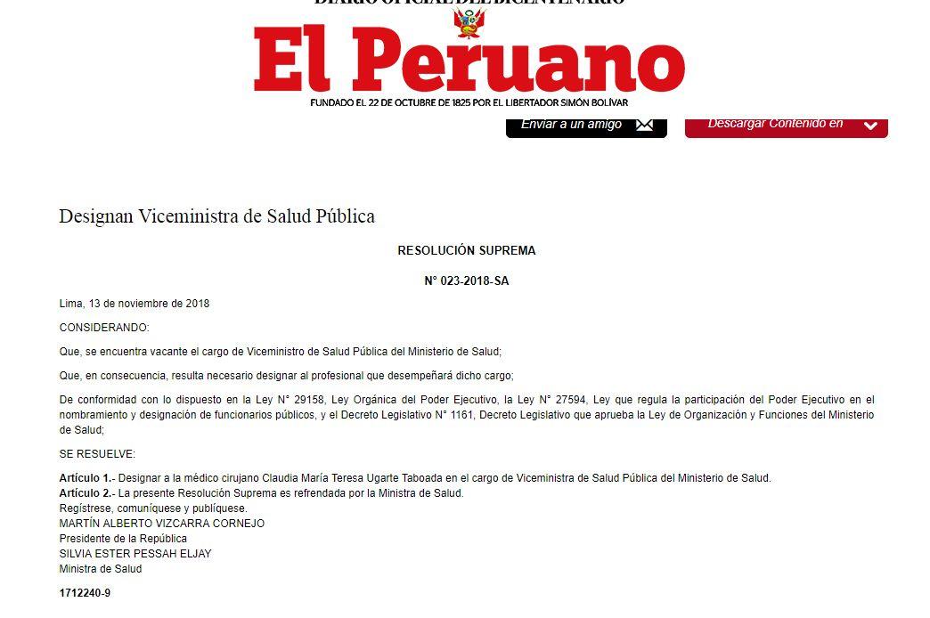 (Foto: Captura El Peruano)