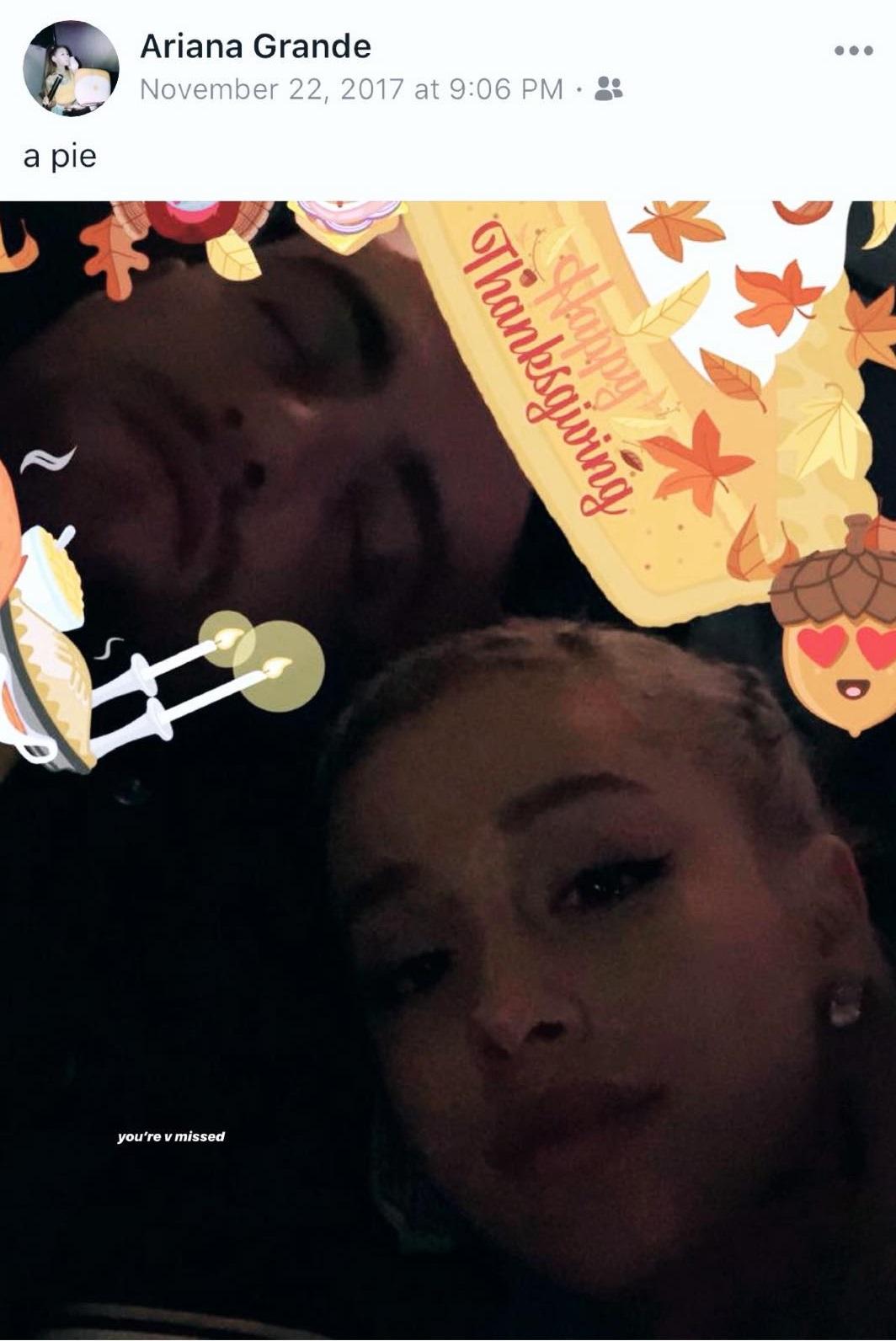 Ariana Grande comparte fotografía por Acción de Gracias junto a Mac Miller (Foto: Instagram)
