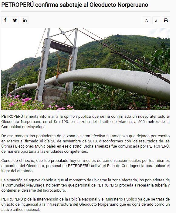 Este es el comunicado de Petroperú. (Foto: Difusión)