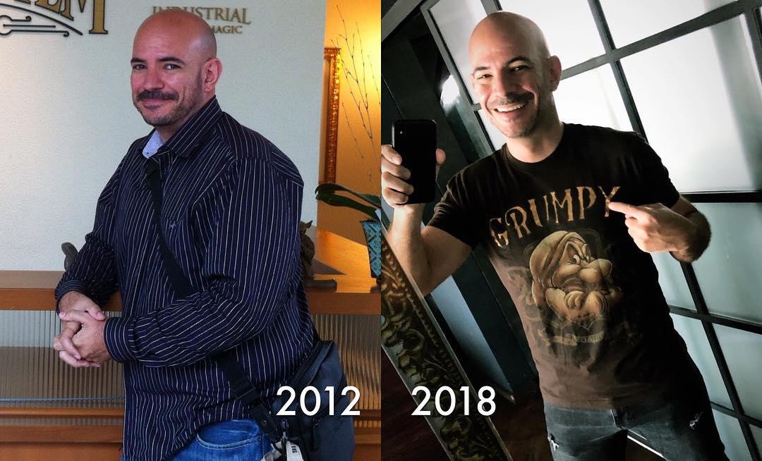 Ricardo Morán y su radical cambio físico durante los últimos años. (Foto: Instagram)
