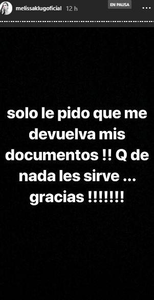 La blanca de Chucuito hizo esta publicación en sus historias de Instagram. (Foto: Instagram)