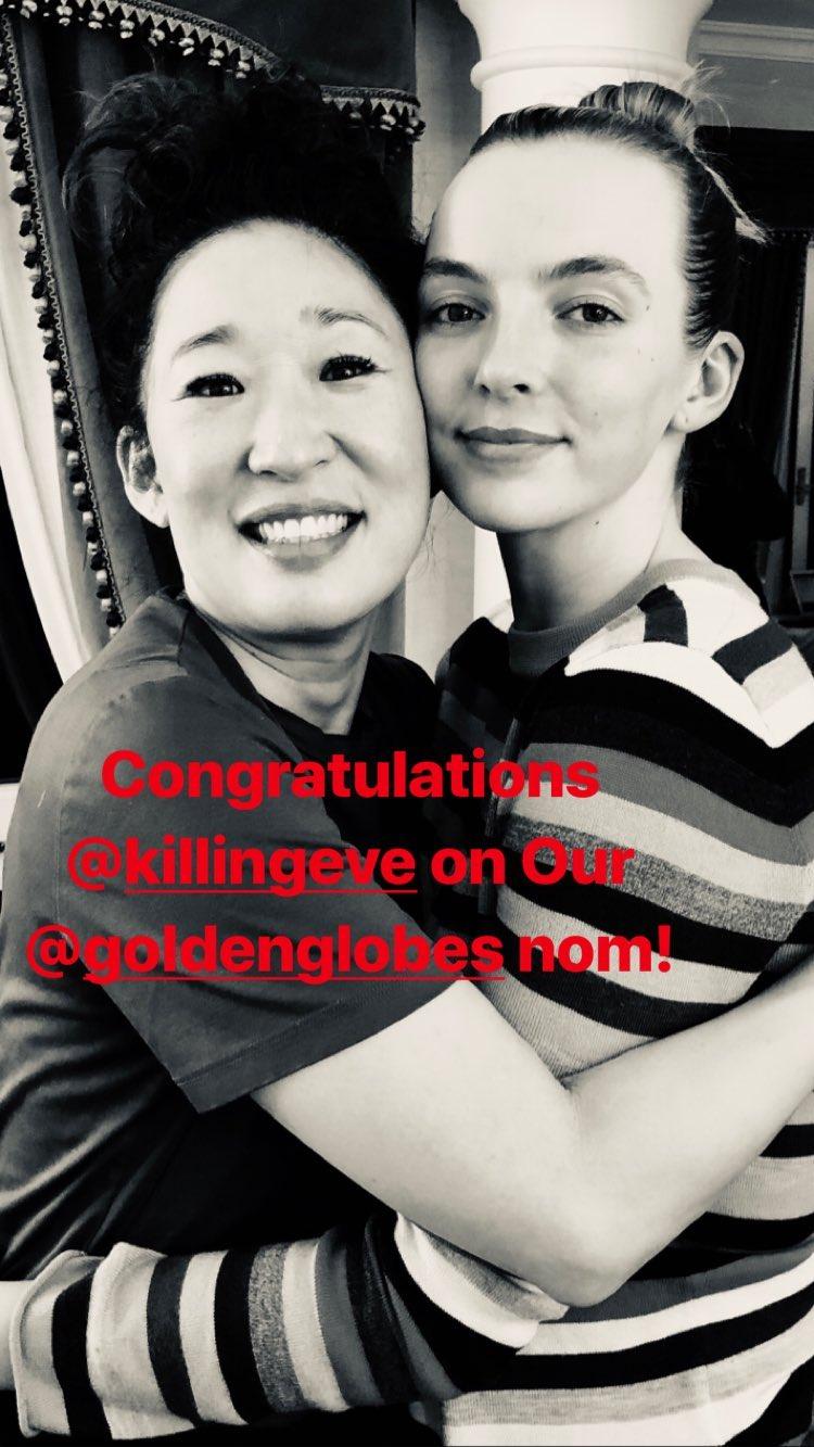 Sandra Oh compartió una fotografía con su co-estrella (Foto: Instagram)