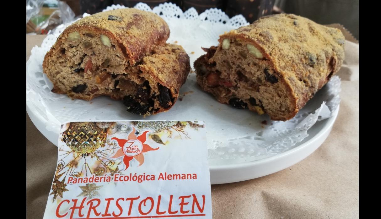 El Christstollen es el dulce navideño favorito de los alemanes, se vende en este mercado. (Foto: Samantha Aguilar)