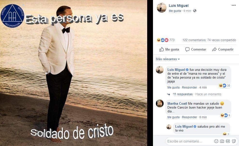 Esta es la actual imagen de perfil de Luis Miguel. (Foto: Facebook Luis Miguel)