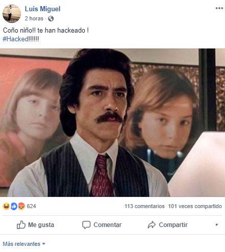 El hacker compartió polémicos memes en la cuenta de Luis Miguel. (Foto: Facebook)