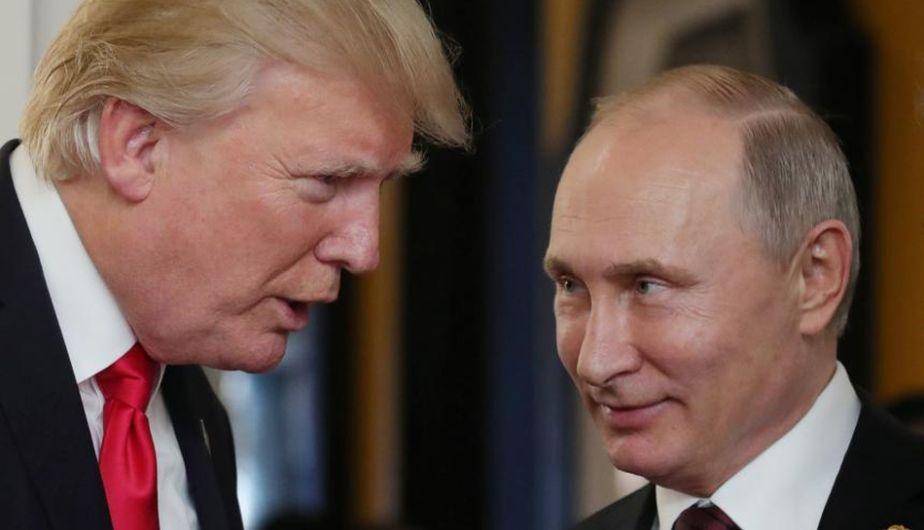 Trump aplazó el esperado encuentro con Putin. (Foto: EFE)