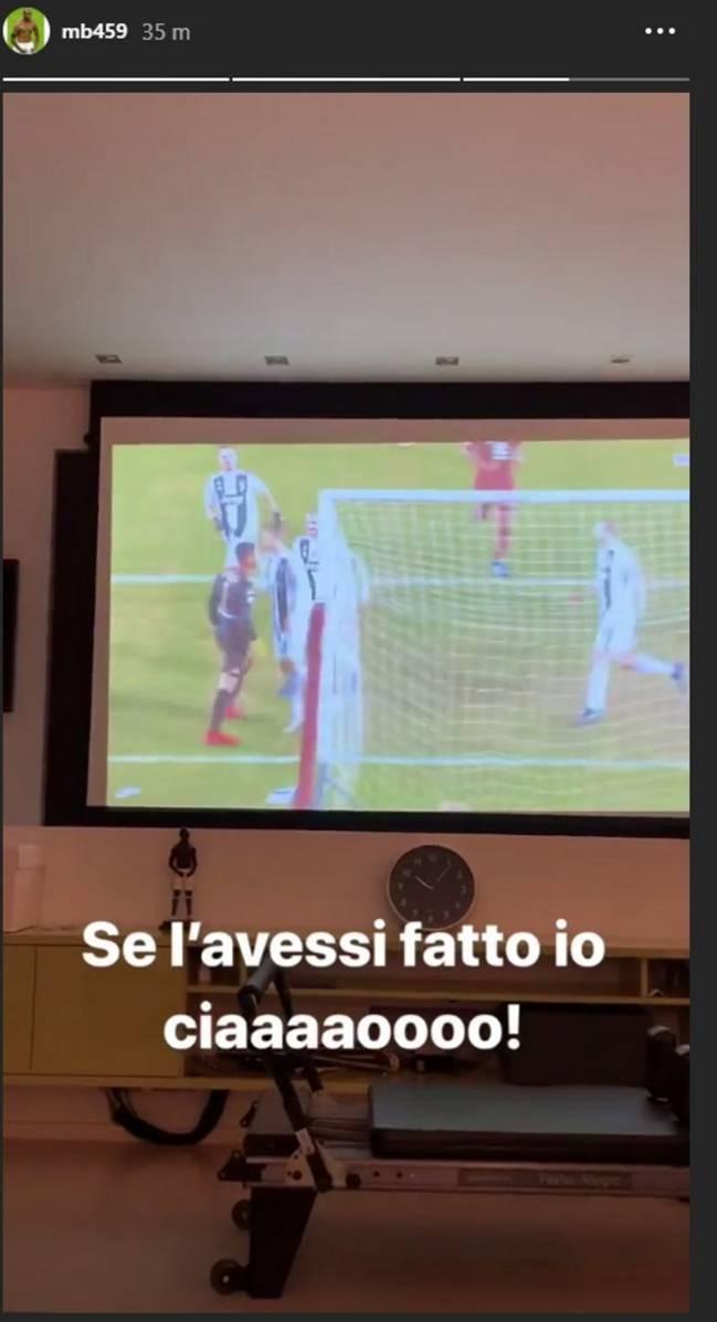 La imagen que publicó Balotelli en Instagram (Foto: Captura).