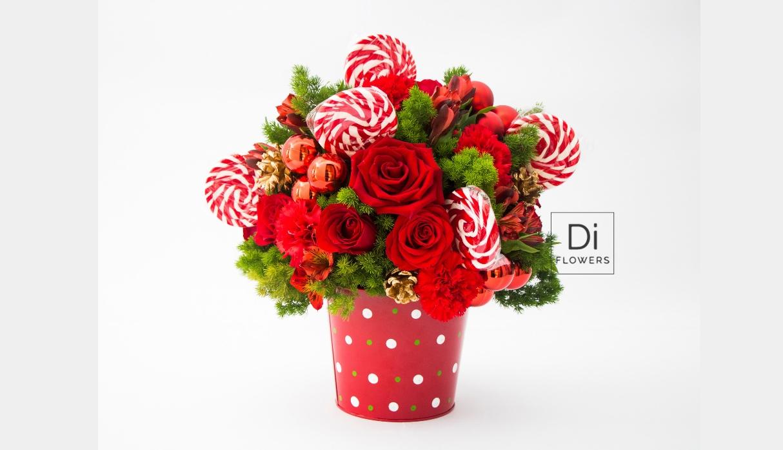 Una opción divertida para la Navidad, ideal para obsequio o como centro de mesa. (Foto: Di Flowers)