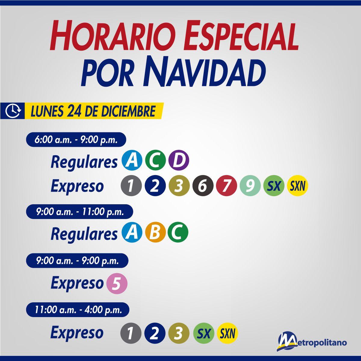 Horario del Metropolitano para el 24 de diciembre. (Foto: Municipalidad de Lima)