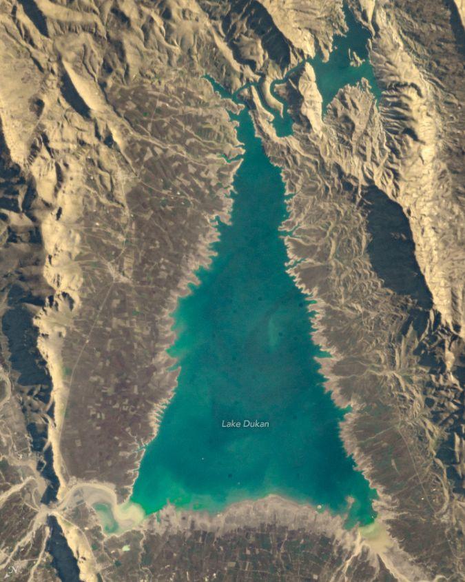 La Nasa publica una foto de la Tierra con una forma de árbol de Navidad. (Foto: NASA)