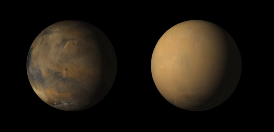 Tormenta global en Marte. (Foto: NASA)