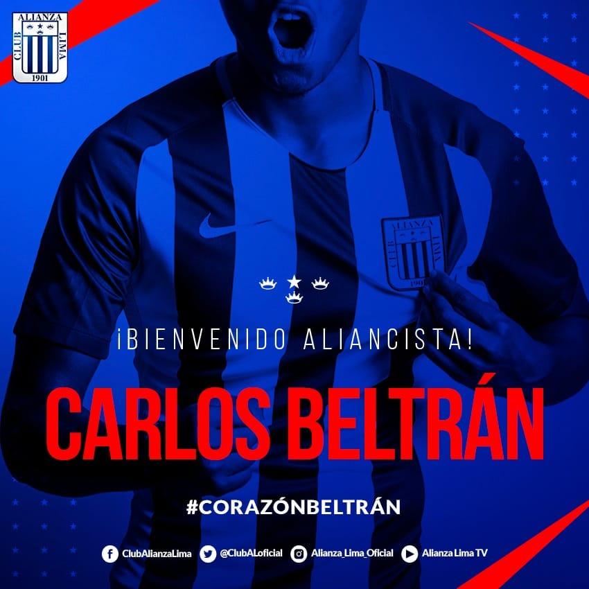 Alianza Lima hizo oficial la llegada de Carlos Beltrán para la temporada 2019.