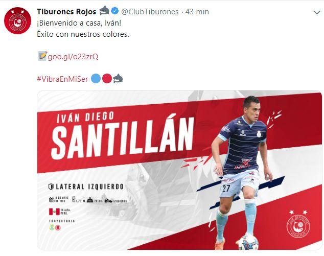 Iván Santillán fue anunciado como nuevo refuerzo de Veracruz.