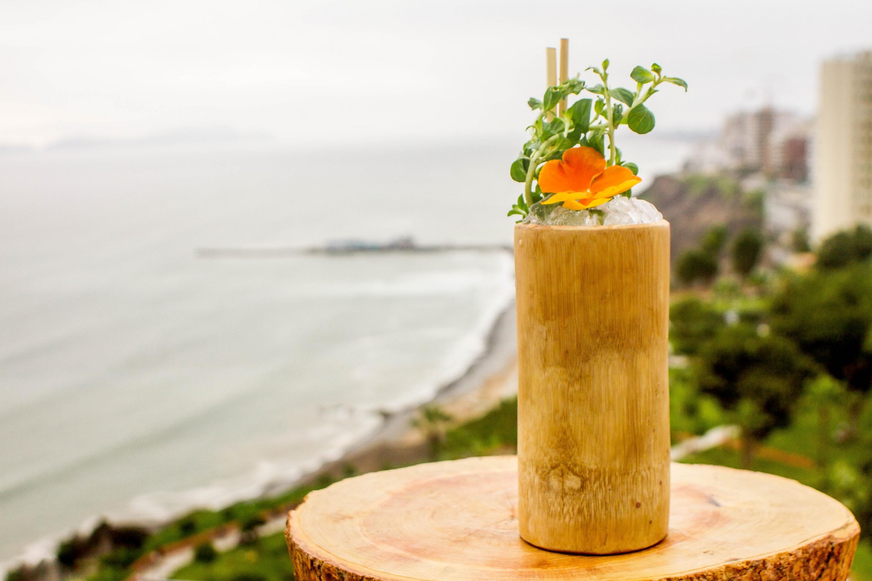 La vista que se tiene desde la terraza del hotel, dio origen al 'Ocean view' donde la sandía y el maracuyá se fusionan perfectamente con el ron añejo y absenta. (Foto: Zandra Carbajal A.)