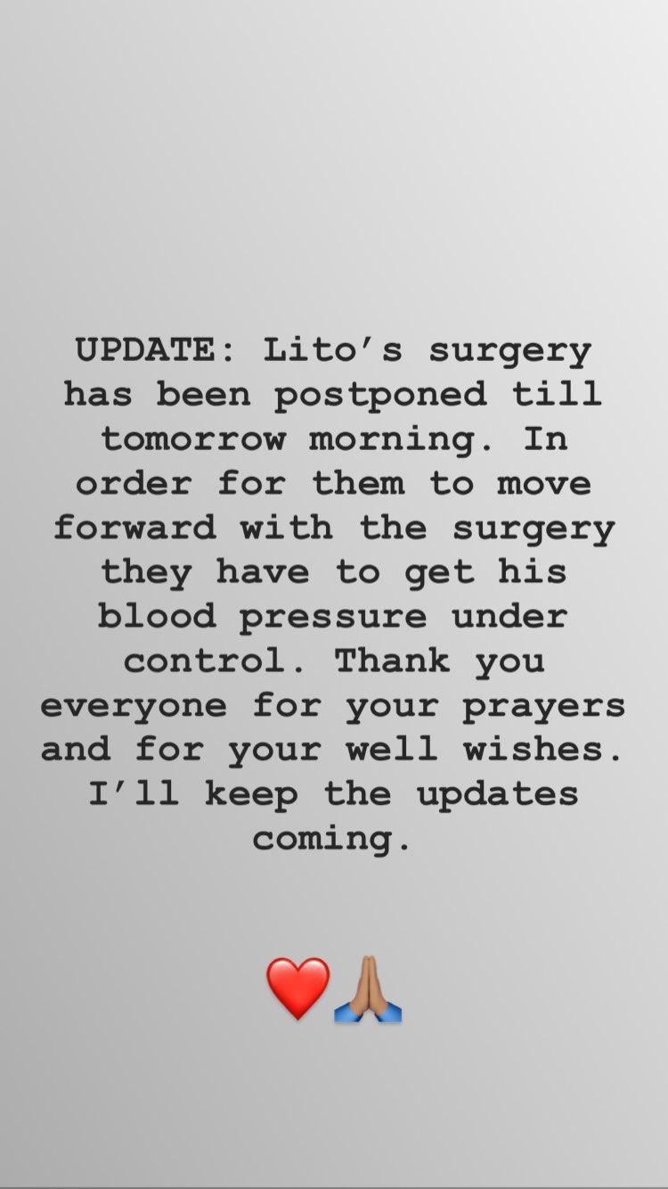 Becky G anuncia que la operación de su abuelo se pospuso (Foto: Instagram Stories)