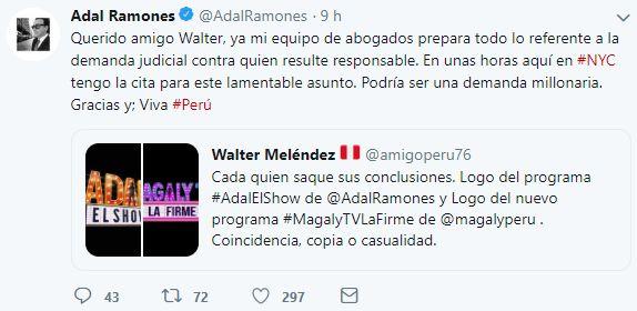 El conductor mexicano compartió este mensaje en Twitter. (Foto: Captura de Twitter)