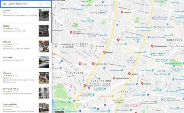 Imagen muestra cómo se viene usando Google Maps en México para informar sobre el abastecimiento de combustible. (Foto: Google Maps)