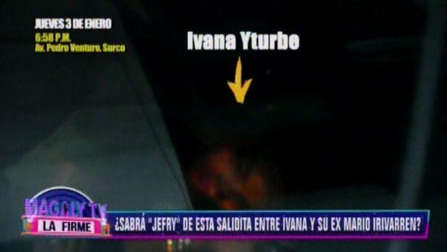Ivana Yturbe fue captada el 3 de enero por las cámaras de Magaly Medina. (Foto: Captura)