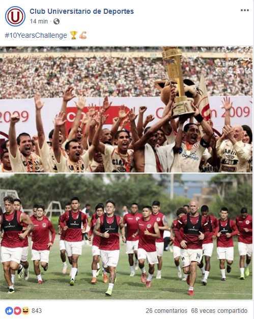 Publicación en Facebook de Universitario de Deportes. (Foto: Facebook)