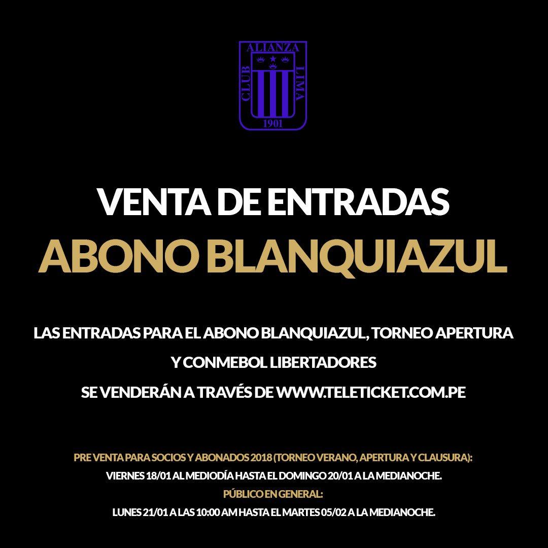 Alianza Lima iniciará este jueves la venta de entradas para la Noche Blanquiazul. (Foto: Alianza Lima)