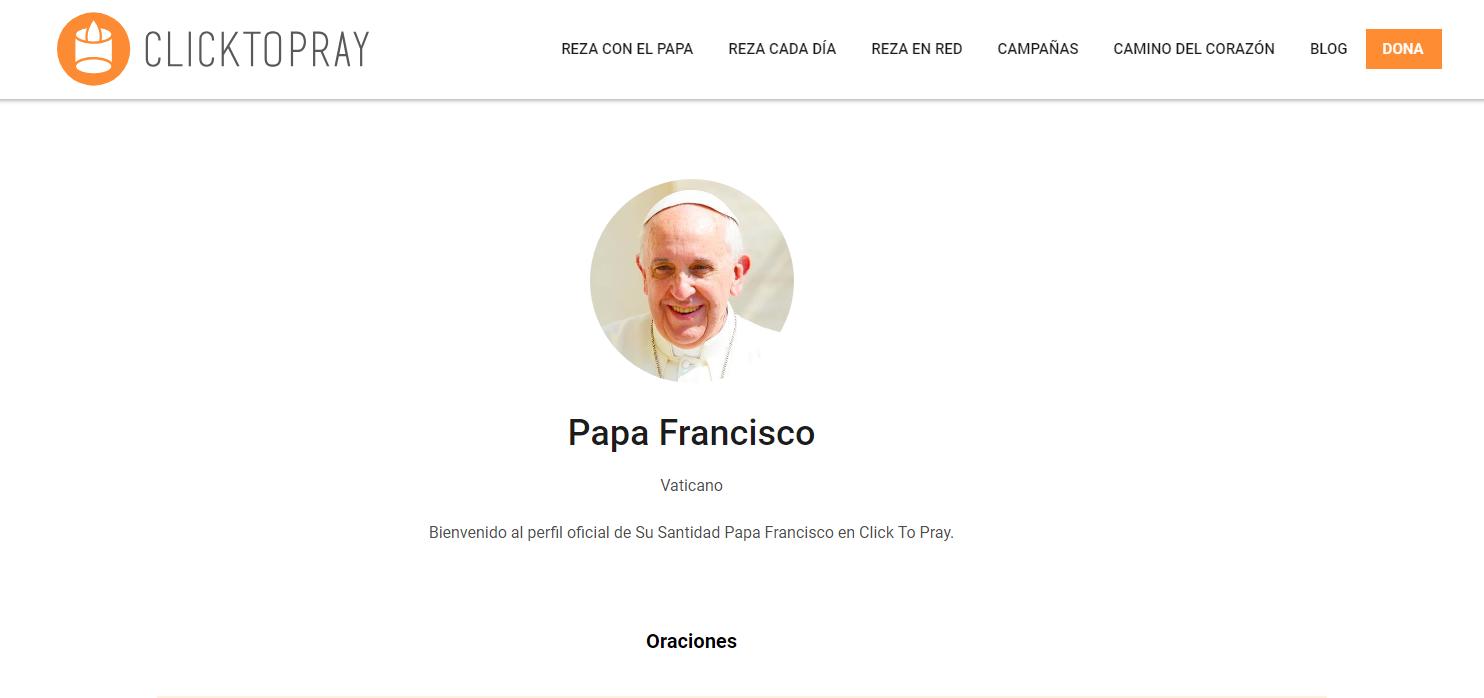 Perfil oficial del papa Francisco. (Foto: Captura).