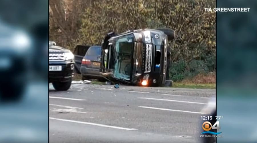 Accidente del príncipe Felipe. (Foto: Captura).