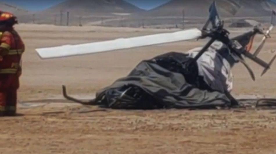 Dos miembros del Ejército mueren tras caída de helicóptero de instrucción militar. (Captura: El Puerto Noticias)