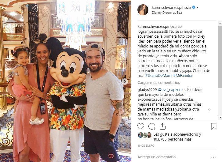 Karen Schwarz compartió divertidos momentos junto a su familia. (Foto: Instagram)